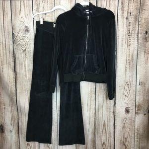 Hollister Black Sweatpants And Zip Up Jacket Set